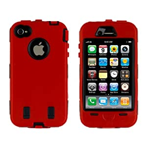 Body Armor for iPhone 4 / 4th Generation - Red & Black