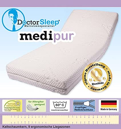 9 – 120X200X18 CM Zone Cold Foam Mattress Degree of Hardness H2 (', Cover Medipur