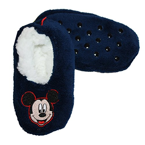 Disney Mickey Mouse Slippers Socks Fuzzy Socks Little Boys' 3T-4T