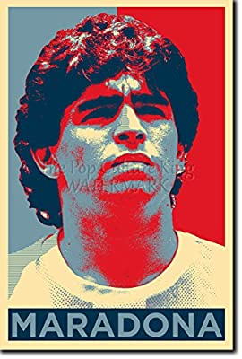 Diego Maradona Art Print 'Hope' - 12x8 High Quality Photographic Poster - Unique Art Gift