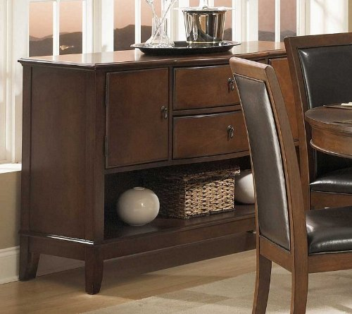 Cheap Sideboard Server Bowed Front in Deep Cherry Finish (VF_HE1205-40)