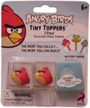 Angry Birds Tiny Toppers 3 pack 2 Red Birds 1 Mystery