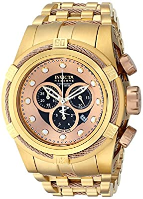 Invicta Men's 12739 Bolt Analog Display Swiss Quartz Gold Watch