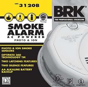 FIRST ALERT / BRK ALARMS BRK 3120B 120V AC PHOTO/ION SMOKE ALARM W / BATTERY BACKUP ***Lot of 3***