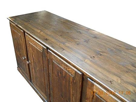 Wye Pine Large Sideboard with Doors - Finish: Wax - Stain: Waterbased