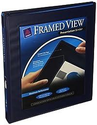 Avery Framed Presentation Non Locking Slant Ring View Binder, 0.5\