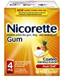 Nicorette Coated Gum, Fruit Chill, 4mg, 160-Count