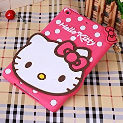 Hello Kitty Silicone With Pendant Back Case Cover For Samsung Tab 3 8.0 T3100