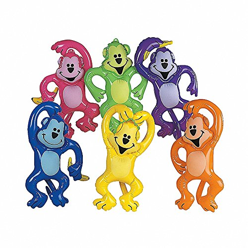 Inflate Neon Jungle Monkey Assortment (12 pc)