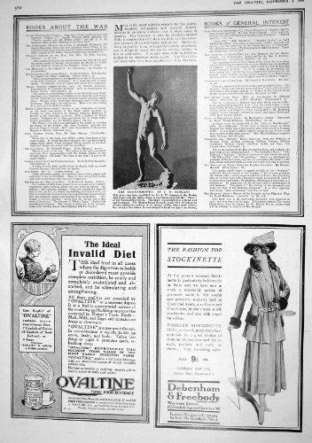pelz-1916-statue-bombe-werfer-sergeant-anzeige-debenham-ovaltine-mazda