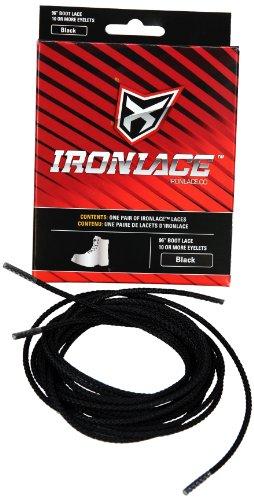 Ironlace Lace (1-Pair), Black, 84-Inch