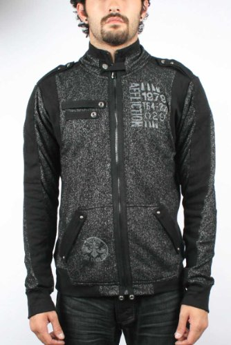 Affliction Black Premium - Mens Crow Bar Jacket In Black, Size: Small, Color: Black