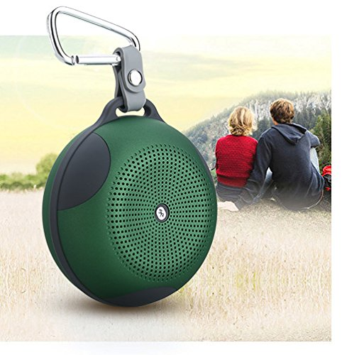 Baudio Portable Outdoor Sports Water Resistant, Weather Proof, Shock Proof, Dust Proof, Rugged High Power Wireless Bluetooth Speaker With Rechargeable Battery And Built In Microphone For Hands-Free Calling Compatible With Any Bluetooth Media Player, Phone