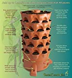 Terracotta Garden Tower - The Composting 50 Plant Organic Container Garden