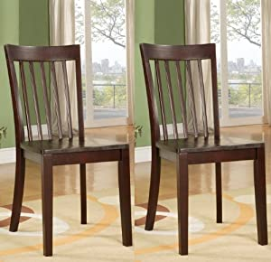 strong dining room chairs | Amazon.com - Set of 2 Heavy Duty Solid Wood Cherry Finish ...