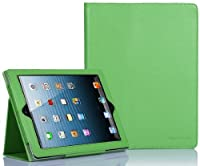 SUPCASE Apple iPad 4 & iPad 3 with Retina Display Slim Fit Folio Leather Case (Green) - Elastic Hand Strap, Support Auto Wake/Sleep, Compatible with iPad 2, Not Fit iPad 5 from SUPCASE