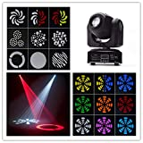 Boryli 60W LED 8 Gobos 8 Colors Moving Head Stage Effect Light RGBW Auto-run DMX512 Sound-activated Master-slave for DJ Club Show Disco Party Bar Lighting