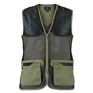 Beretta Men's Competition Leather Patch Shooting Vest, Tan/Brown, 3X-Large