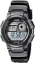 CASIO Collection AE-1000W-1AVEF - Reloj de caballero de cuarzo, correa de resina color negro (con cronómetro, alarma, luz)