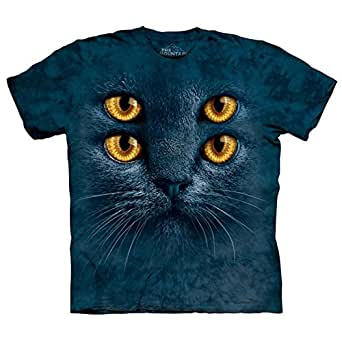 The Mountain - - Big Face T-Shirt Four Eyes Hommes, Large, As Shown