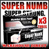 Super Numb 3x30g Tubes Strong Quality Tattoo Numbing Cream Anesthetic