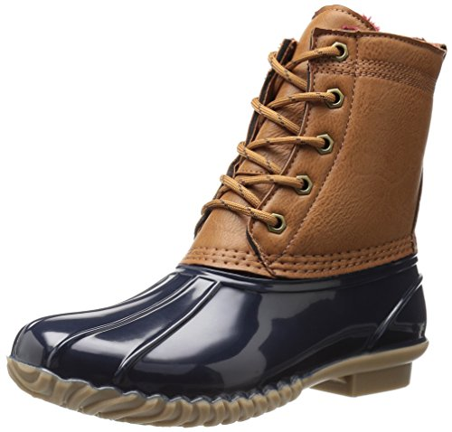 Tommy Hilfiger Women's Hail Rain Boot, Brown, 9 M US