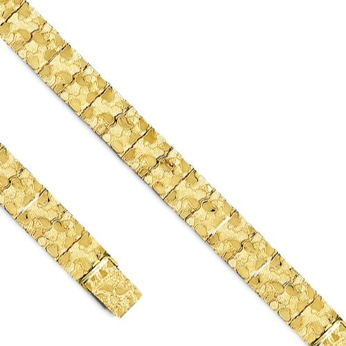 14K Solid Yellow Gold Men's Nugget Bracelet.
