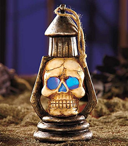 Skull - Fun Spooky Color Changing Lighted Halloween Hanging Lantern Decoration