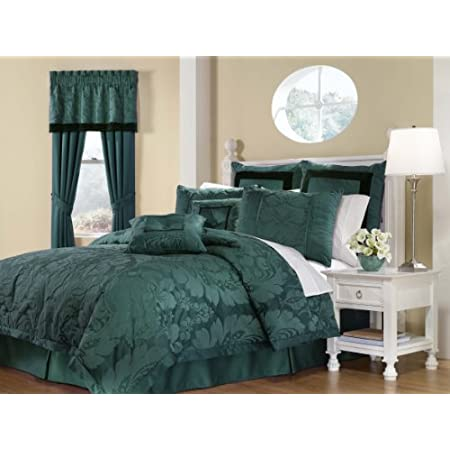 Royal Heritage Home Lorenzo Teal 8-Piece Queen Size Comforter Set: Home & Garden