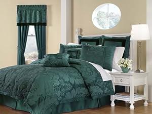 Royal Heritage Home Lorenzo Teal 8-Piece King Size Comforter Set