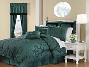 Royal Heritage Home Lorenzo Teal 8-Piece King Size Comforter Set