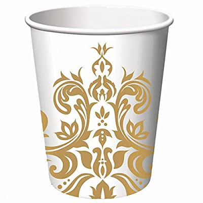 Golden Anniversary 9 oz Paper Cups 18 Per Pack