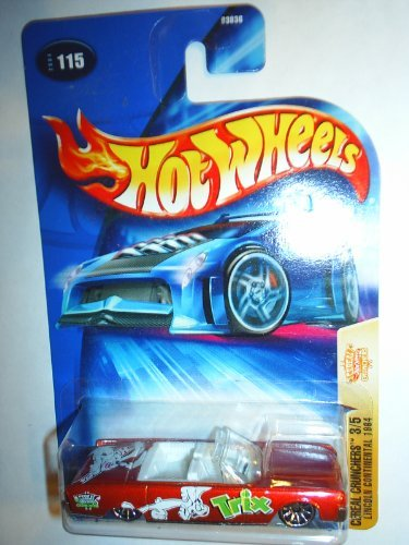 Hot Wheels 2004 Cereal Crunchers 3/5 Lincoln Continental 1964 115 RED Trix - 1