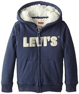 Levi's Little Boys' Styx Zip Hoodie, Vintage Blue, 7