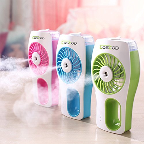 Portable-Misting-Fan-Handheld-USB-Mini-Fan-with-Personal-Cooling-Humidifier-for-Outdoor-Hydrating-Water-Cooler-and-Home---Car-Built-in-Rechargeable-Battery-Silent-BLUE-