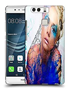 Snoogg Girl In Blue Designer Protective Back Case Cover For HUAWEI HONOR P9