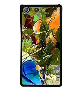 Colourful Flowers Pattern 2D Hard Polycarbonate Designer Back Case Cover for Sony Xperia M5 Dual :: Sony Xperia M5 E5633 E5643 E5663