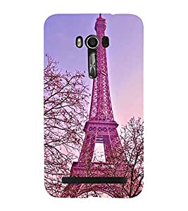 Fuson Premium Back Case Cover Eiffel tower With Black Background Degined For Asus Zenfone Go::Asus Zenfone Go ZC500TG