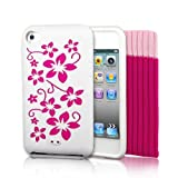 4G Touch White Silicone Protective Armour Case Cover & Screen Protector Kit for New Apple iPod Touch 4th Generation - 8GB 32GB 64GB