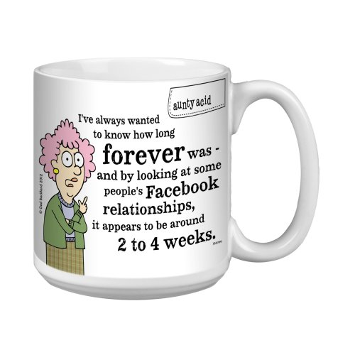 Tree-Free Greetings Xm27896 Aunty Acid Artful Jumbo Mug, 20-Ounce, Facebook