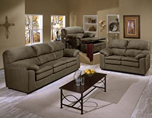 Amazon.com - SIMMONS 6399 VELOCITY SOFA LOVESEAT CHAIR ...