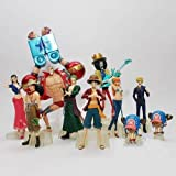 Lujex 1 set aus 10 pcs One Piece Collection The New World After 2 years Luffy Zero Sanji Nami Chopper Robin Franky Usopp Brook Figuren