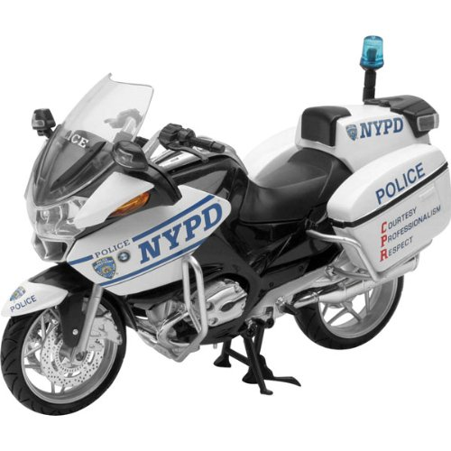 New Ray NYPD BMW R1200 Replica Motorcycle Toy - 1:12 Scale