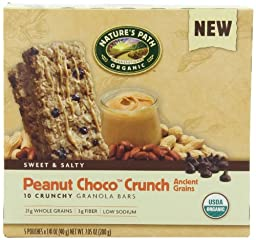 NATURE\'S PATH ORGANIC Crunchy Granola Bars, Peanut Choco, 7.05-Ounce (Pack of 6)