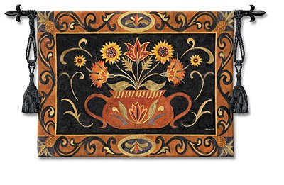 Tapestry Wall Hanging - Potted Folk Floral [Kitchen]