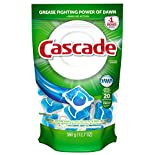 Cascade Dishwasher Detergent, ActionPacs, Fresh Scent, 20 pacs 12.7 oz (360 g)