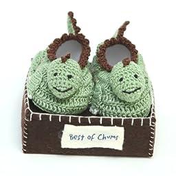 Best of Chums Baby Crochet Bootie Dinosaur