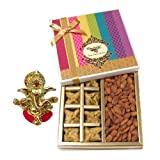 Chocholik Belgium Chocolates - Sinful Treat Of Baklava And Almonds Gift Box With Ganesha Idol - Diwali Gifts