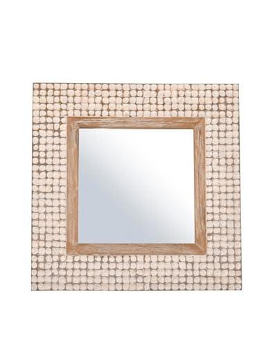Jeffan New Hampton Square Mirror, White