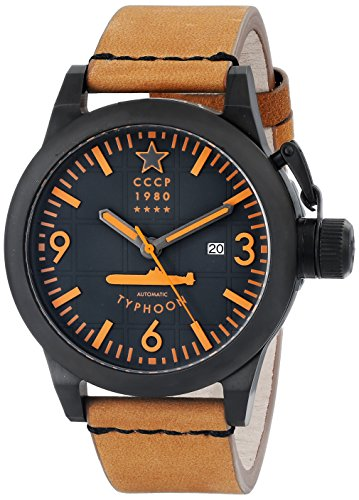 CCCP Men's CP-7018-07 Typhoon Analog Display Japanese Automatic Brown Watch